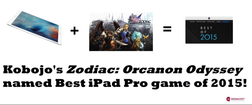 Kobojo's Zodiac: Orcanon Odyssey – iPad Pro Game of the Year